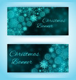 christmas holiday banners set vector image vector image