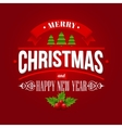 Christmas labels emblems decorative elements vector image