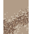 coffee foam vector image vector image