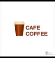 coffee logo for a coffee shop drink paper cup vector image vector image
