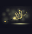 colorful magic wand at black background vector image