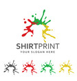 colorful t-shirt label vector image