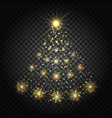 confetti lights christmas tree vector image vector image