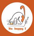 cute cat design vector image vector image