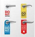 door knob hanger sign different design set do vector image vector image