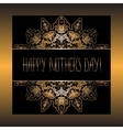 Elegant design of card for Mothers day vector image vector image