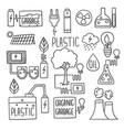 energy doodles electricity green generation fuel vector image