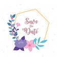 flowers wedding save date flowers nature vector image vector image