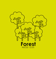 forest icon vector image