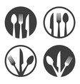 fork knife spoon plate sign vector image