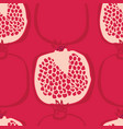 fresh delicious pomegranates seamless pattern vector image vector image