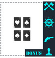 game cards icon flat vector image vector image