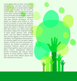 Go green concept Save world vector image