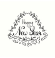 Happy New Year Card Winter Holiday Typography vector image