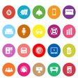 Home theater flat icons on white background vector image