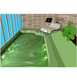 indoor swimming pool vector image vector image
