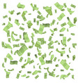 isolated on white money rain fall earnings luck vector image vector image