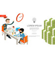 isometric business teamwork concept vector image vector image