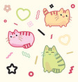 kawaii style cat kitten kitty pet on vector image