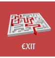 labyrinth or maze puzzle vector image vector image