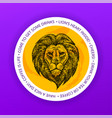 lion drink coaster vector image