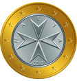 maltese money gold euro coin one euro vector image vector image