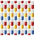 Medicine seamless pattern Colorful tablets Illus vector image