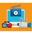 Movie and videofilm entertainment vector image vector image