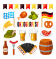 oktoberfest german celebration flat vector image vector image