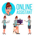 online assistant woman consulting client vector image vector image