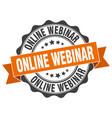 online webinar stamp sign seal vector image vector image