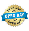 open day round isolated gold badge vector image vector image
