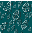 pattern blue leaves vector image vector image
