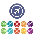 Plane signs colored set vector image