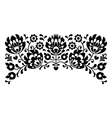 Polish floral folk embroidery black and white vector image vector image