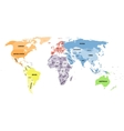 Political world map on white background vector image