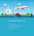 poster waiting room with passengers vector image vector image