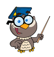 Professor Owl Holding A Pointer Stick vector image vector image