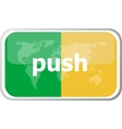 push word on web button icon isolated on vector image vector image