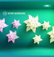 realistic floral light flower template vector image vector image