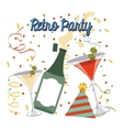 retro party celebration vector image vector image
