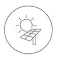 Solar energy line icon vector image
