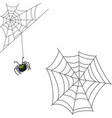 spider and web halloween icon isolated on white vector image vector image