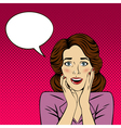 Surprised Woman with Bubble for Expression vector image vector image