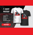 t-shirt template of paladin in attack vector image vector image