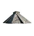 temple kukulkan pyramid at chichen itza vector image