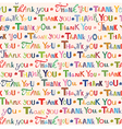 Thank you Colorful seamless pattern vector image
