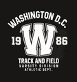 washington typography for t-shirt print track and vector image vector image