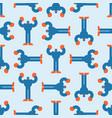 yeti pattern seamless bigfoot background vector image vector image
