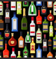 alcohol bottles colorful pattern vector image